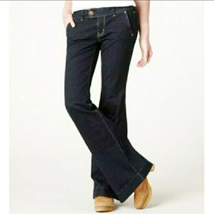 American Eagle Dark Wash Trouser Jeans Wideleg
